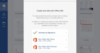 مايكروسوفت توفر الإشتراك الشهري في Office 365 على الآيباد