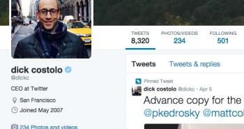 المدير التنفيذي لتويتر .. يوثق حسابه !