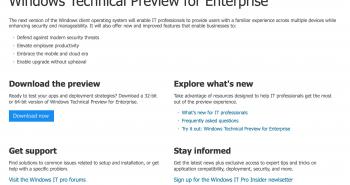 مايكروسوفت تطلق صفحة على موقع ويندوز بإسم Windows TH
