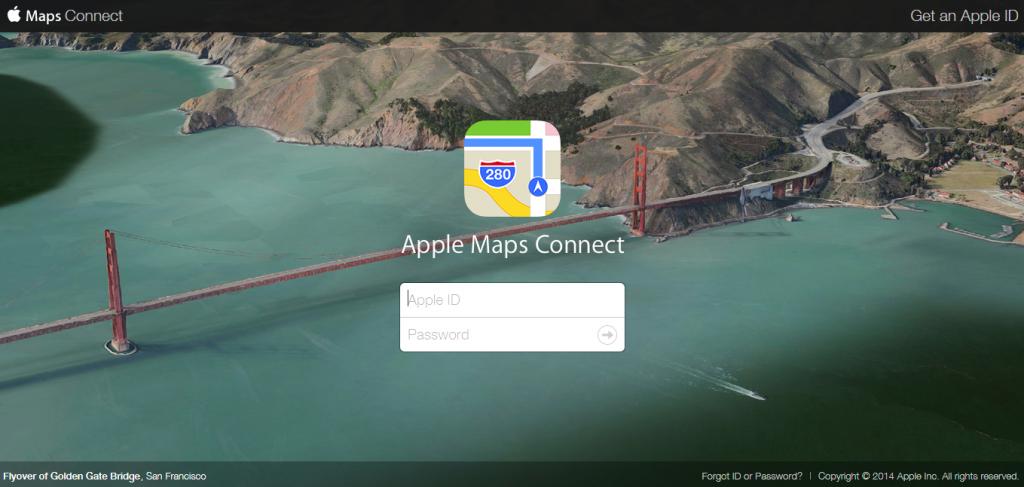 أبل Maps Connect
