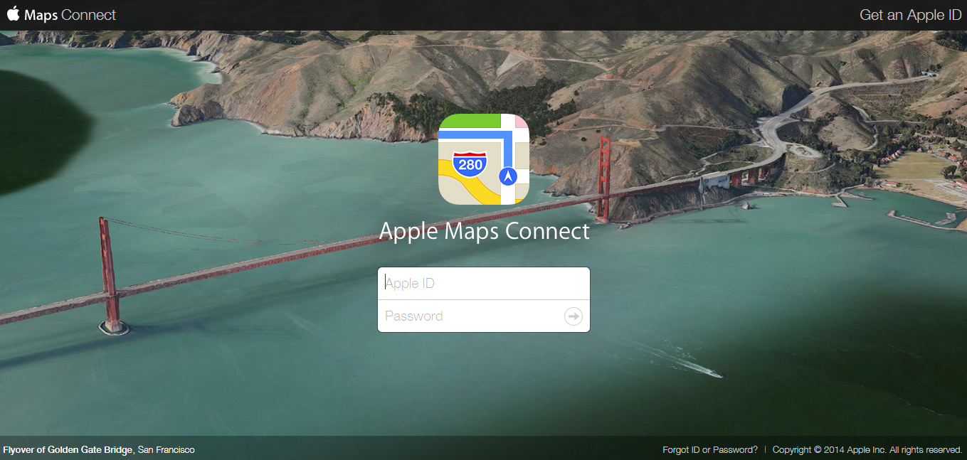 أبل Maps Connect