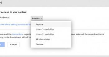 قوقل بلس تسمح باختيار الموقع والفئة العمرية لمن يشاهد منشوراتك