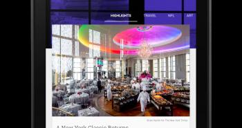 تطبيق قراءة المجلات والأخبار Newsstand يحصل على تصميم Material Design