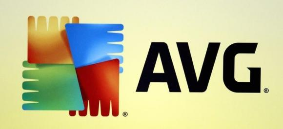An AVG logo is seen during the International CTIA WIRELESS Conference & Exposition in New Orleans, Louisiana