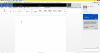 مايكروسوفت توفر الدردشة عبر سكايب أثناء العمل على أوفيس اونلاين