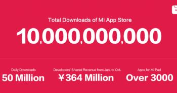 متجر تطبيقات «شيومي» يصل إلى 10 مليار تحميل