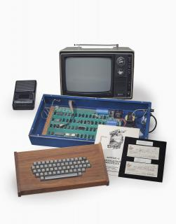Christie's photo of the Ricketts Apple-1 Personal Computer