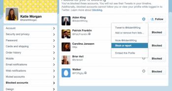 تويتر تسهل عملية الإبلاغ وحظر الحسابات