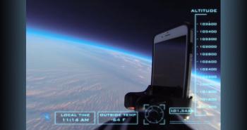 شاهد اختبار سقوط هاتف آيفون 6.. من الفضاء!