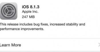 تحديث نظام التشغيل iOS 8.1.3  لحل العديد من المشاكل