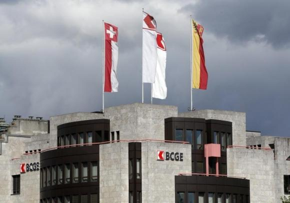 The building of Banque Cantonale de Geneve (BCGE) is pictured in Geneva