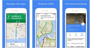 خرائط قوقل تستعرض عناوين الشركات القريبة على iOS