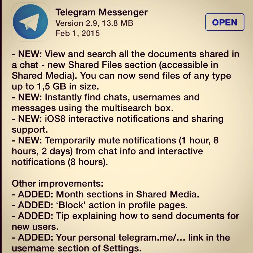 telegram-update