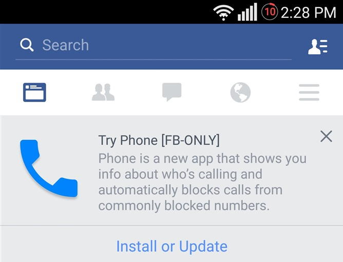 فيسبوك تختبر تطبيق لإجراء المكالمات على أندرويد