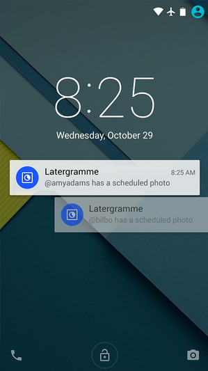 Latergramme