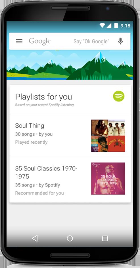 جوجل تقدّم 70 تطبيق جديد للوصول إليها عبر خدمة Google Now