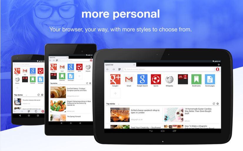 تحديث كبير لمتصفح Opera Mini على منصة الأندرويد