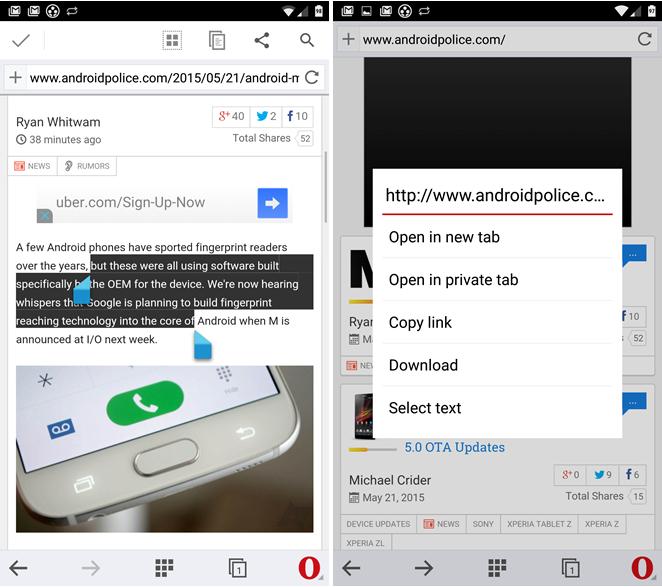 تحديث متصفح أوبرا التجريبي على أندرويد يجلب مزامنة الطلب السريع وأكثر