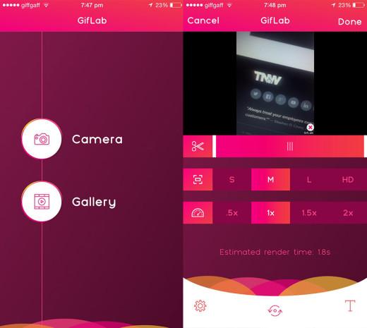 GifLab أسهل طريقة  لإنشاء صور GIF على iOS