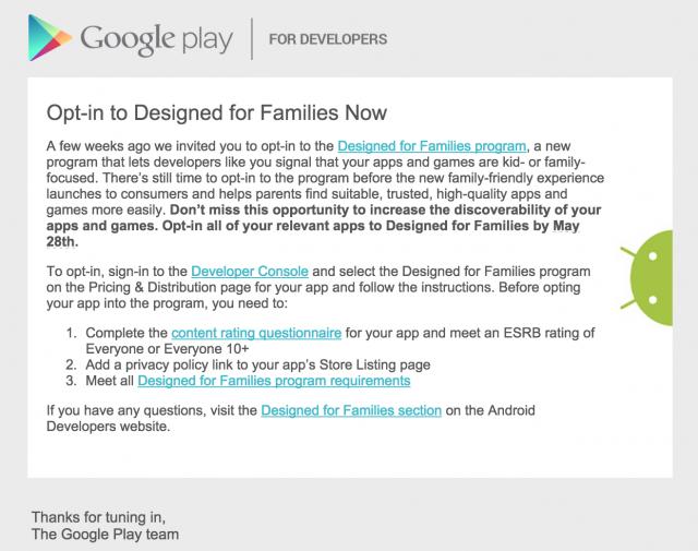 طرح النسخة المخصصة للأسرة على قوقل بلاي في مؤتمر Google I/O