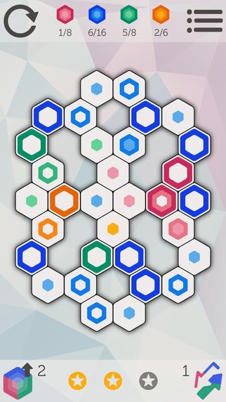 لعبة Hexiz تتطلب تفكيرًا عميقًا لإيجاد الحلول على iOS