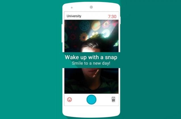 Snap Me Up تطبيق مُنبّه وإيقافه عبر تصوير نفسك سيلفي على أندرويد
