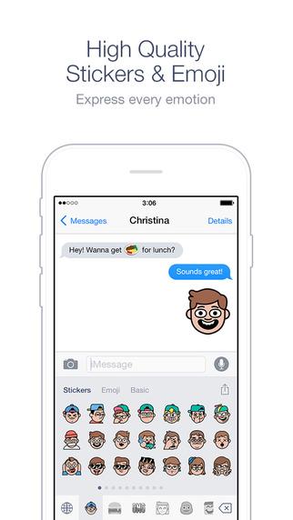 لاين تطلق لوحة مفاتيح الرموز التعبيرية والملصقات على iOS