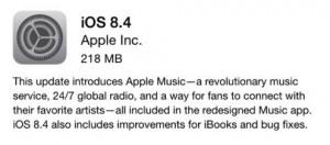 عاجل : نسخة iOS 8.4 تصل لأجهزة آبل مع تطبيق Apple Music