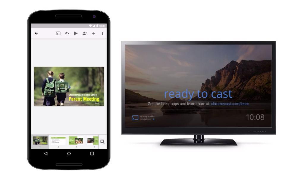 تحديث تطبيق Google Slides ليدعم العرض على أجهزة Chromecast