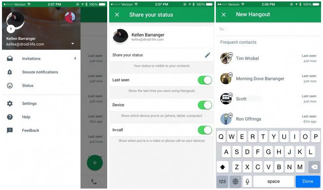 تحديث Hangouts 4.0 يصل iOS قبل نظام أندرويد