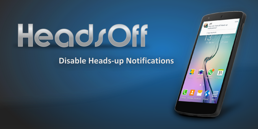 HeadsOff لمنع تنبيهات نظام اندرويد لولي بوب المسمى Heads-Up
