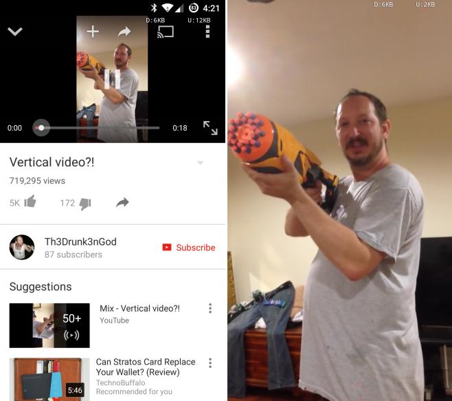 مع يوتيوب يمكنك الآن مشاهدة أشرطة الفيديو العمودية على كامل الشاشة