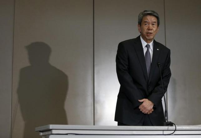 Toshiba Corp President and Chief Executive Officer Hisao Tanaka attends a news conference in Tokyo