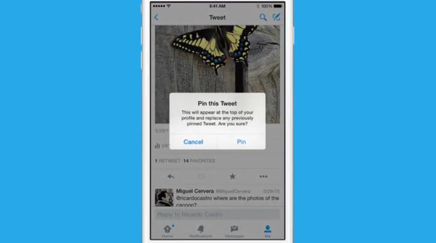تويتر يتيح الآن تعليق التغريدات أعلى الصفحة الشخصية في أندرويد و iOS