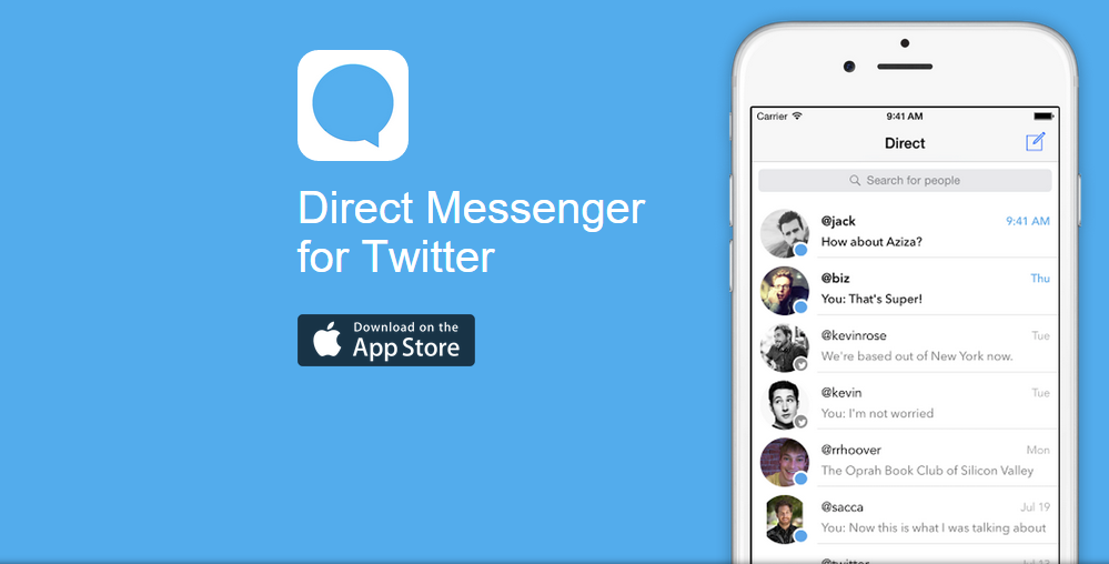 Direct Messenger للتعامل مع الرسائل الخاصة في تويتر بسهولة