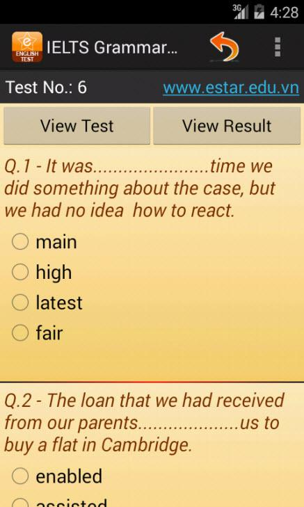 IELTS Grammar Test