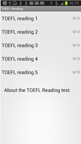 TOEFL Reading