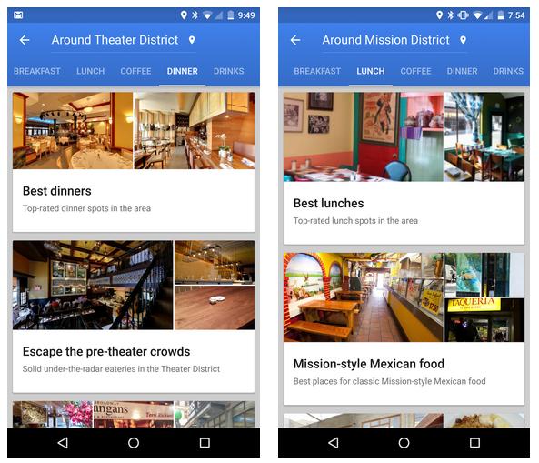 تحديث خرائط قوقل على أندرويد يجعل من السهولة جدًا إختيار المطعم