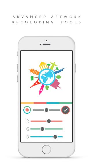 LogoScopic على iOS يوفّر أكثر من 850 شعار جاهز للتعديل
