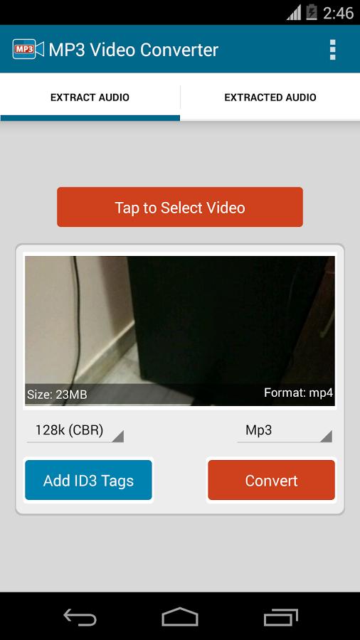 تطبيق MP3 Video Converter مُحوّل الفيديو إلى صوت على أندرويد