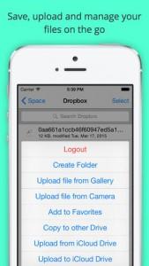 تطبيق Space على iOS لإدارة عدة خدمات سحابية من مكان واحد