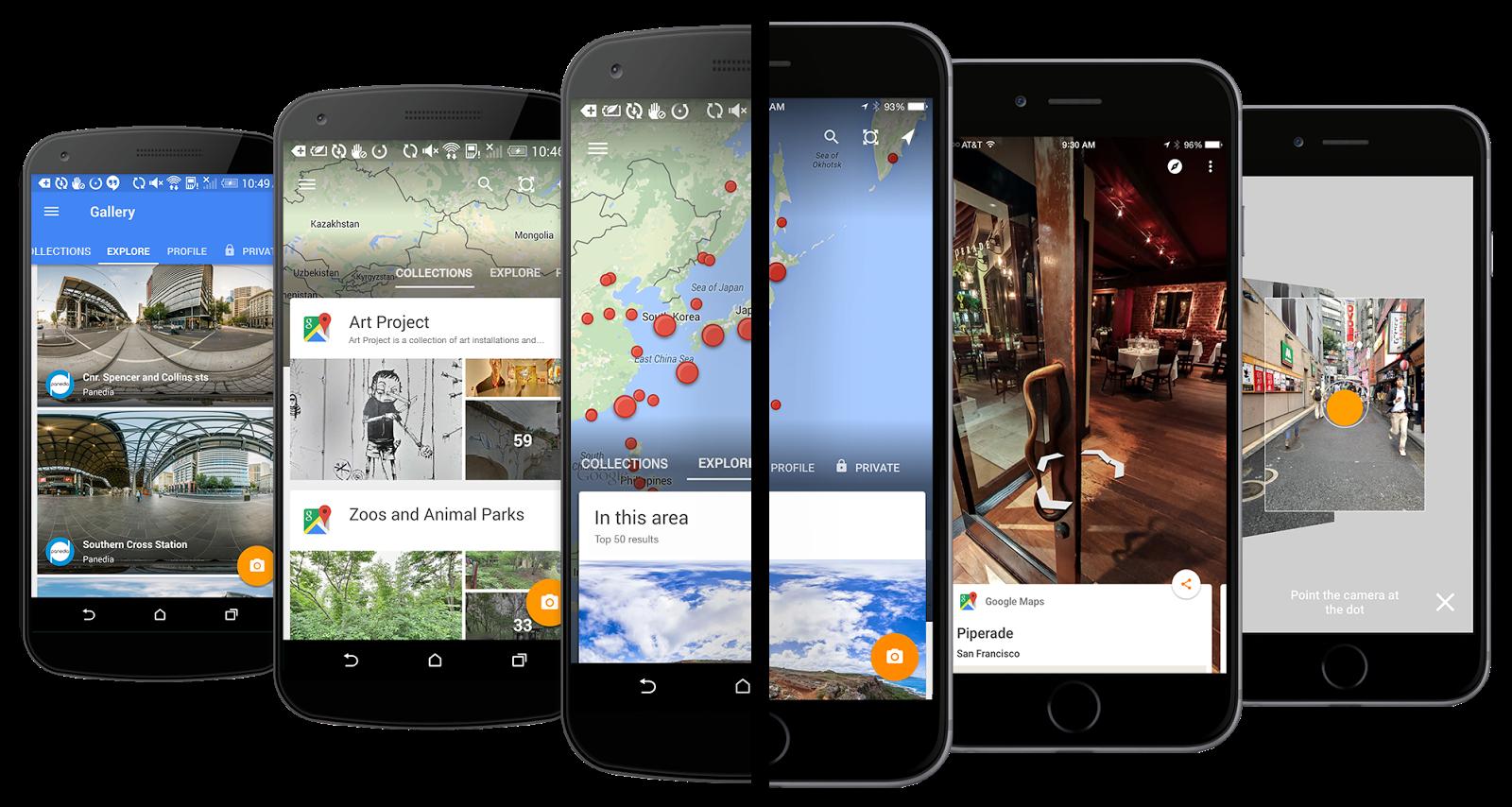 قوقل تحدث تطبيقها Street View ليدعم أجهزة كيت كات وتعزيز الصور البانورامية
