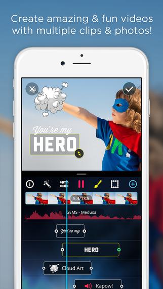 تطبيق VidLab على آيفون منّتج إصنع ركّب فيلمك الخاص