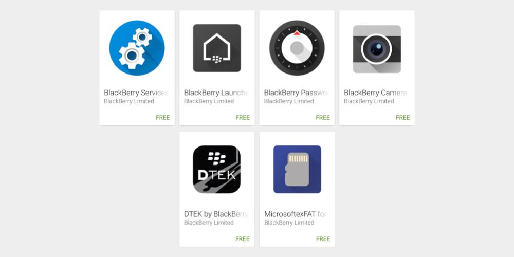 تطبيقات هاتف بلاك بيري PRIV المنتظر ترفع على متجر قوقل بلاي
