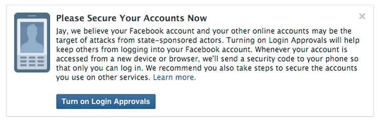 فيسبوك تخطط لإشعارك ما إذا تم اختراق حسابك