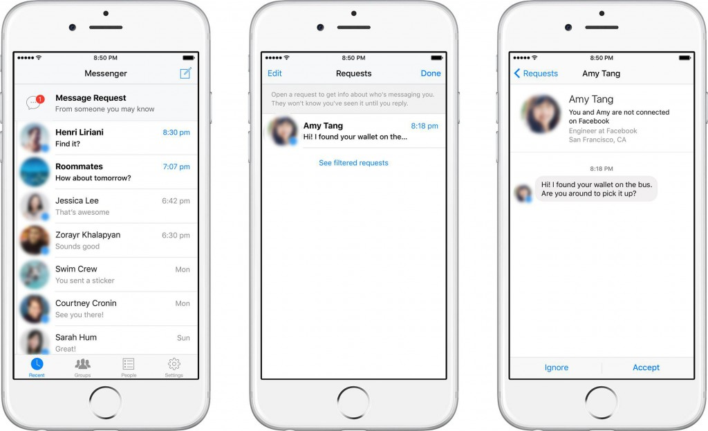 فيسبوك ماسينجر يدعم إشعارات طلبات الغرباء الراغبين في محادثتك