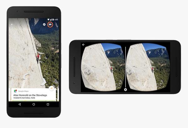 تطبيق Street View يدعم الواقع الافتراضي عبر نظارات Google Cardboard