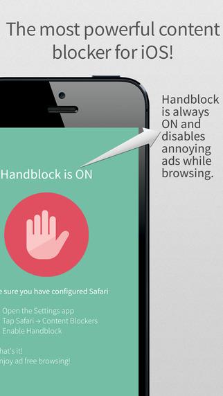 تطبيق Handblock لمنع الإعلانات المزعجة أثناء التصفّح على iOS