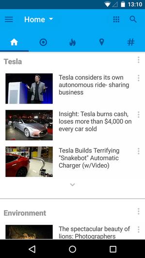 تطبيق Recent News قارئ أخبار جديد وذكي يتعلّم منك