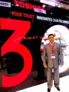 Santosh Varghese at Toshiba Stand